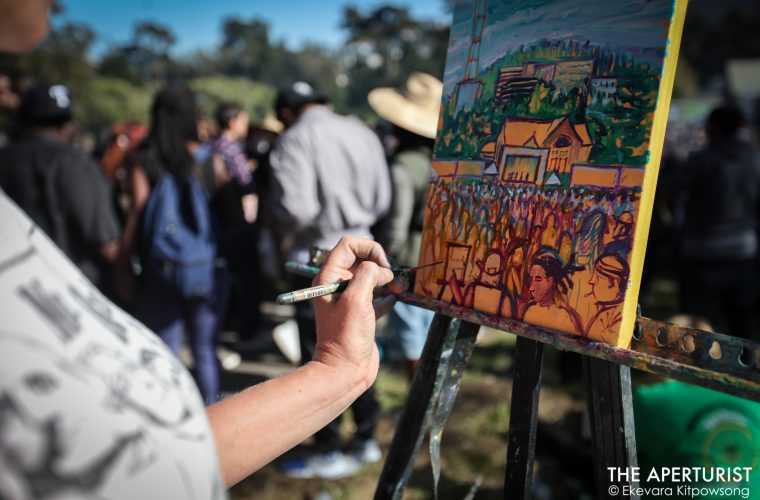 4:20, 4/20, 420, 420 Day, 420 festival, 2017, Artist, california, cannabis, Cannabis Week, Ekevara Kitpowsong, Giant Joint, Golden Gate Park, Hippie Hill, Jessica Joy Jirsa, joint, Massive Joint, oil painting, Paint, Painting, San Francisco, SF, Smoke, The Aperturist, Weed, Weed Day