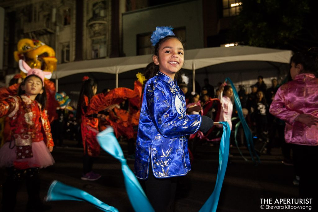 Performers take part in San Francisco's Chinese New Year Parade on Saturday, Feb. 23, 2019. (Photo by Ekevara Kitpowsong/Current SF)
