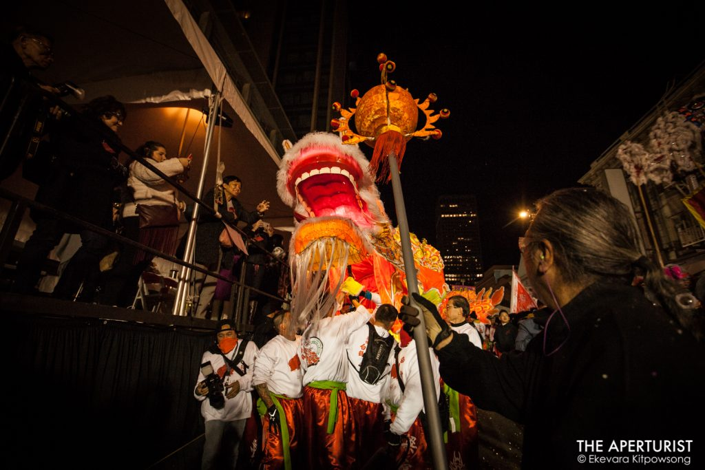 "A 288-foot-long Golden Dragon ""Gum Lung"" performs during the San Francisco's Chinese New Year Parade on Saturday, Feb. 23, 2019. (Photo by Ekevara Kitpowsong/Current SF)"