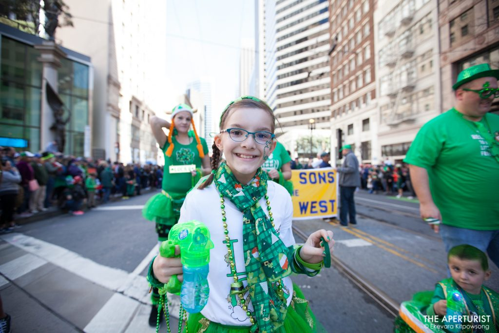 Participants march down Market Street during the 168th annual San Francisco St. Patrick's Day Parade on Saturday, March 16, 2019, in San Francisco, Calif. (Photo by Ekevara Kitpowsong/Current SF)