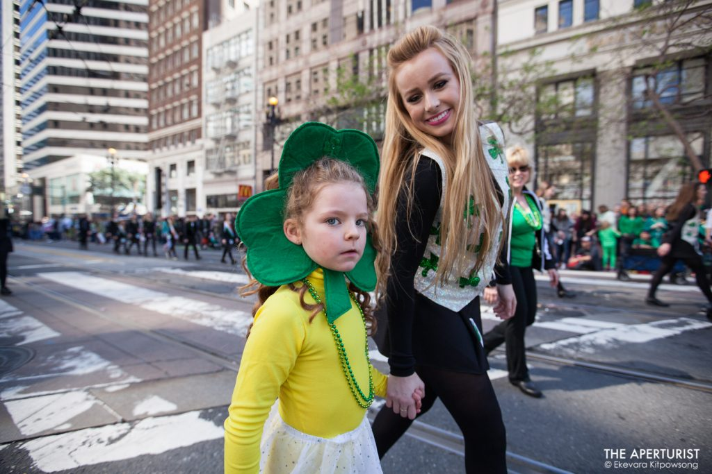 Participants in costume take part in the 168th annual San Francisco St. Patrick's Day Parade on Saturday, March 16, 2019. (Photo by Ekevara Kitpowsong/Current SF)