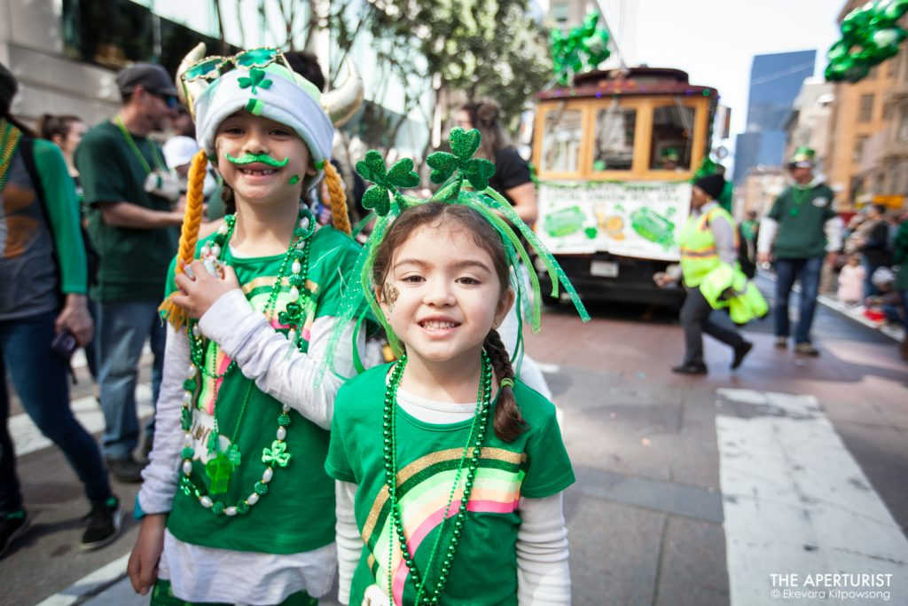 Participants march down Market Street in San Francisco during the 168th annual San Francisco St. Patrick's Day Parade on Saturday, March 16, 2019. (Photo by Ekevara Kitpowsong/Current SF)