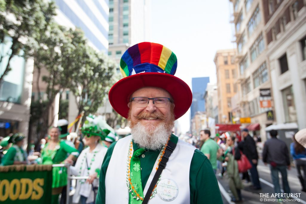 A man in costume takes part in the 168th annual San Francisco St. Patrick's Day Parade on Saturday, March 16, 2019. (Photo by Ekevara Kitpowsong/Current SF)