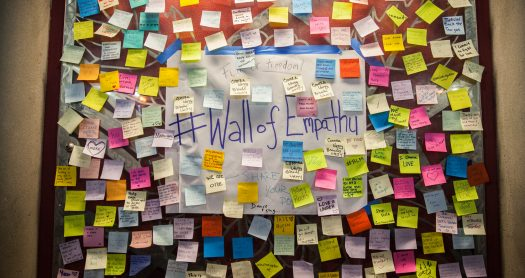 Donald Trump, Trump, US Election, Wall of Empathy, Post Election, Post it, Sticky notes, Notes, The Mission, Mission District, Wall, Election 2016